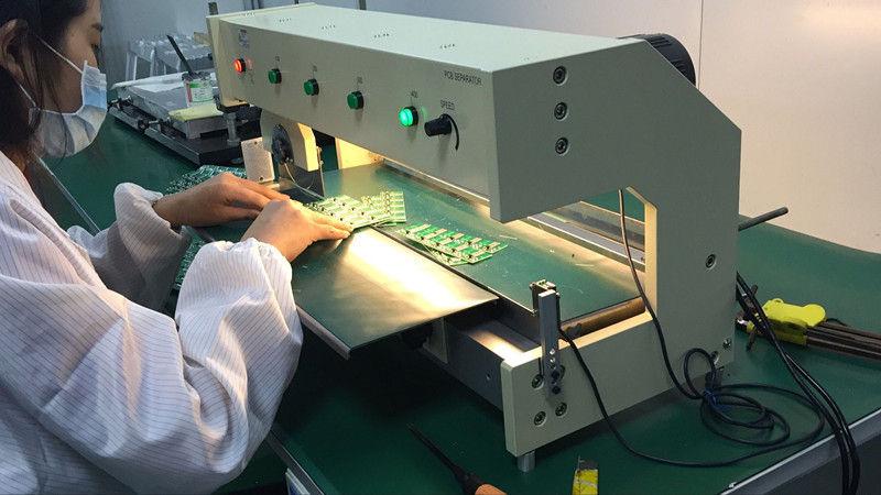 LED Aluminum Plate V Cut Pcb Separator / V Cut Pcb Depaneling Machine